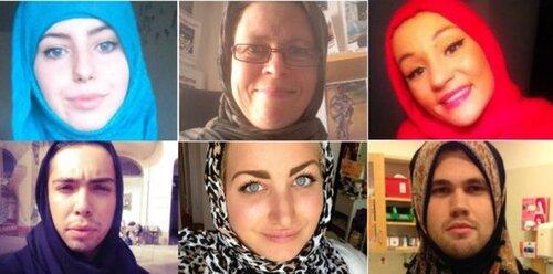 Suède :Tous en hijab signe de soutien à la musulmane agressée