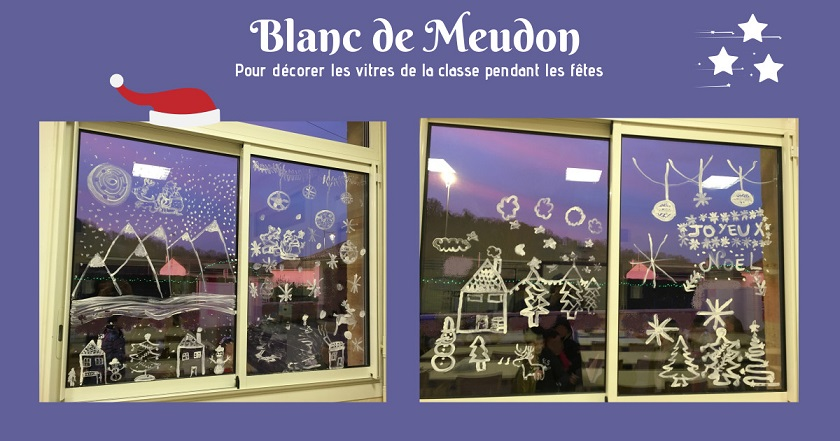 Décorer les vitres avec du blanc de Meudon