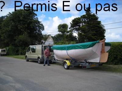 Tracter son bateau ; permis E ou pas permis E
