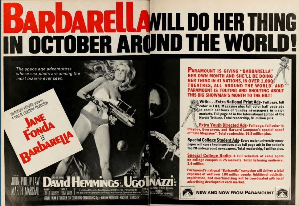 BARBARELLA box office usa 1968