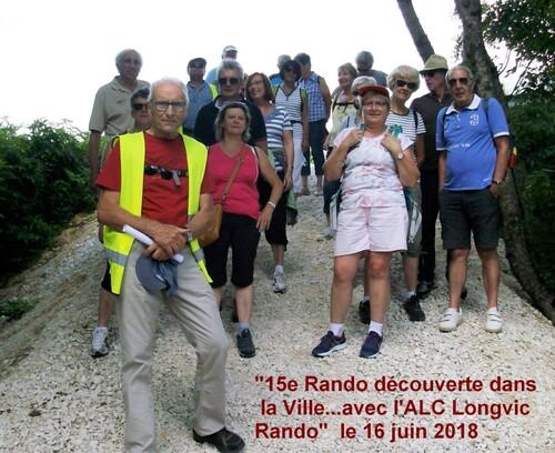 """""""15ème Rando découverte dans la ville"""" - Samedi 16 juin 2018"""