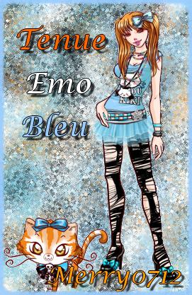 Tenue emo bleu