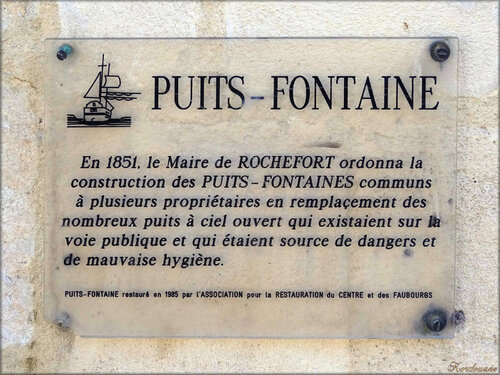 Photos d'un puits fontaine (Rochefort sur Mer)