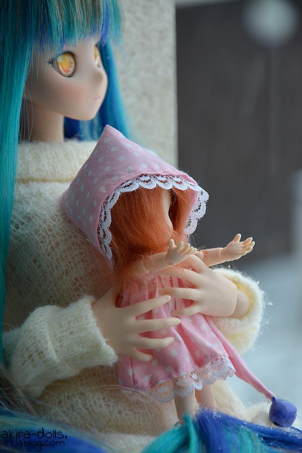 Yume et Momoe sous la neige
