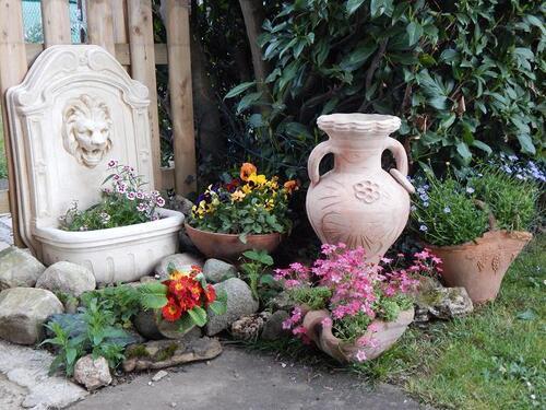Le jardin au mois d'avril