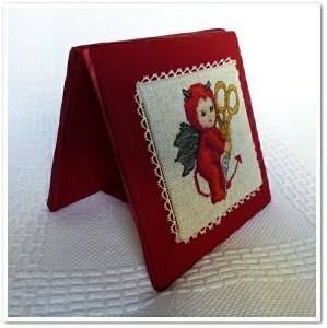 little stitch devil with scissors
