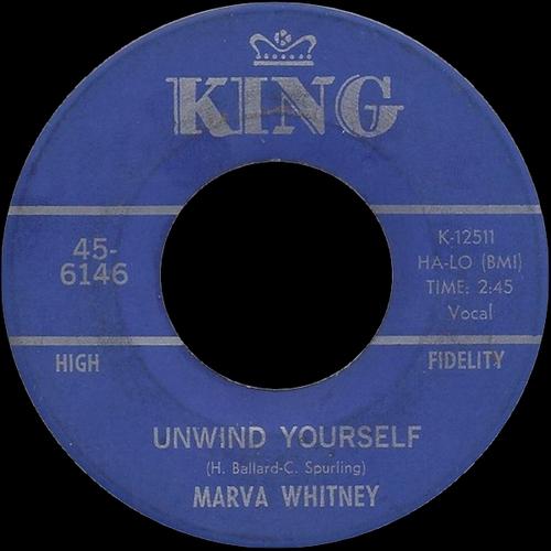 1968 Marva Whitney : Single SP King Records 45-6146 [ US ]