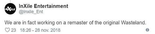 NEWS : Wasteland 1 remasterisé ?*