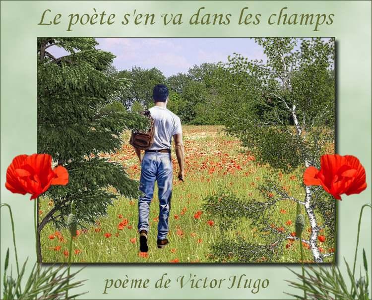 """"""" Le poète s'en va dans les champs """"  poème de Victor Hugo"""