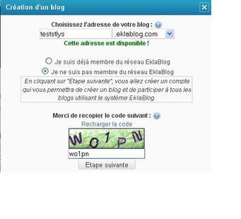 Accéder à un site de création de blog
