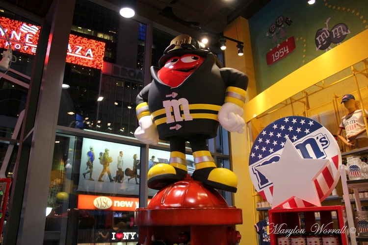 New-York : Hard Rock Cafe & M&M's World sur Times Square