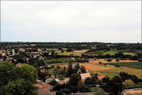 Vues depuis le clocher (Abbaye de la Sauve Majeure)