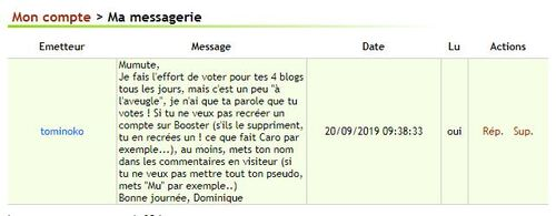 Les votes de boosterblog