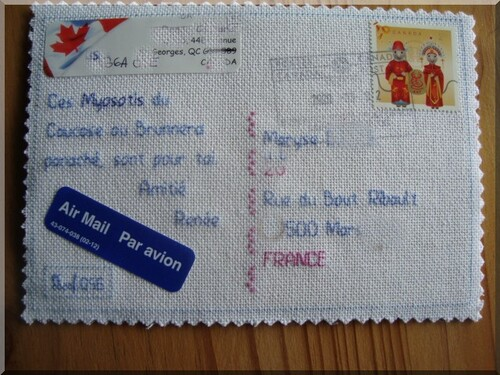 Echange carte postale