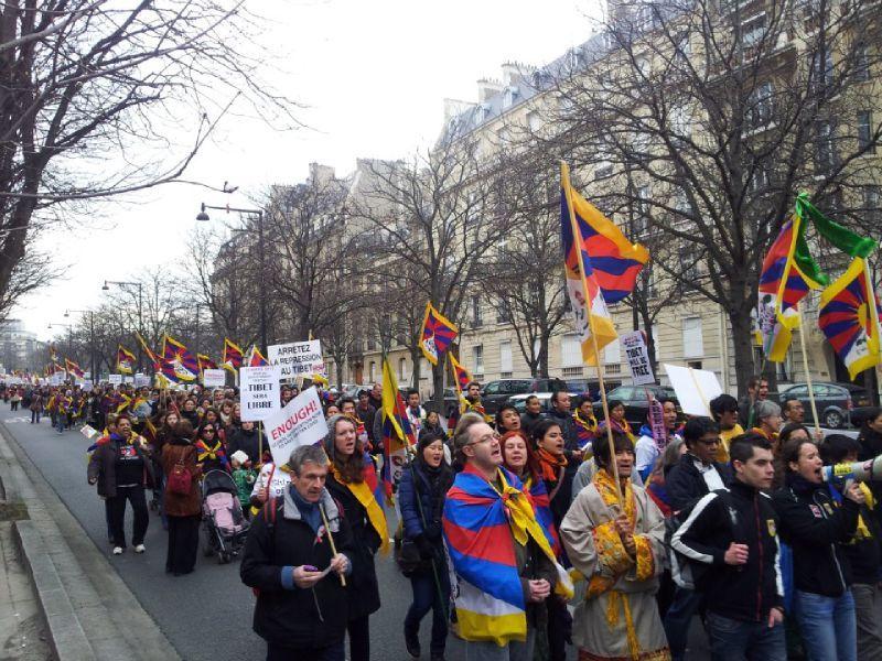 10 march 2012 Paris Tibet
