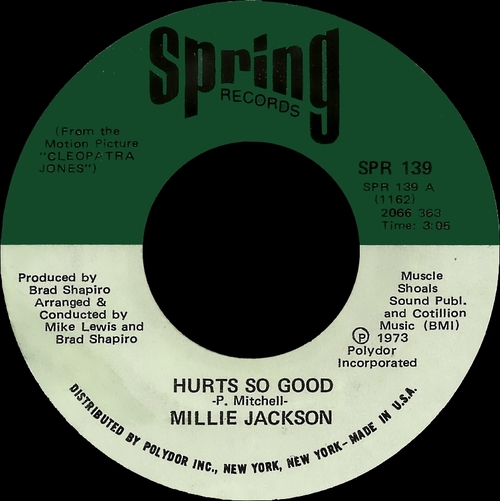 "Millie Jackson : Album "" It Hurts So Good "" Spring Records SPR 5706 [ US ]"