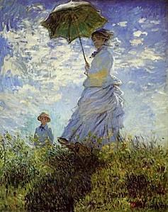 Claude+Monet,+La+Promenade,+la+femme+à+l'ombrelle