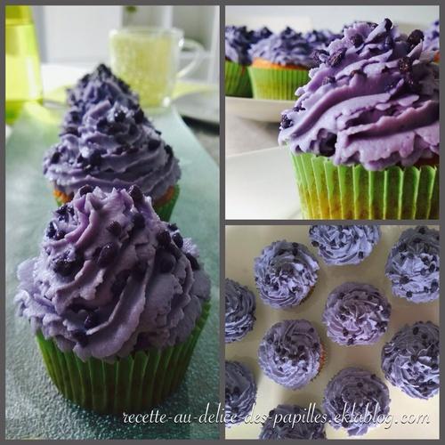 Recette Cupcake à la violette  sans levure chimique