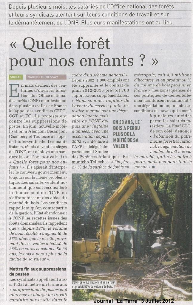Démantèlement de l'ONF : « Quelle forêt pour nos enfants ? »