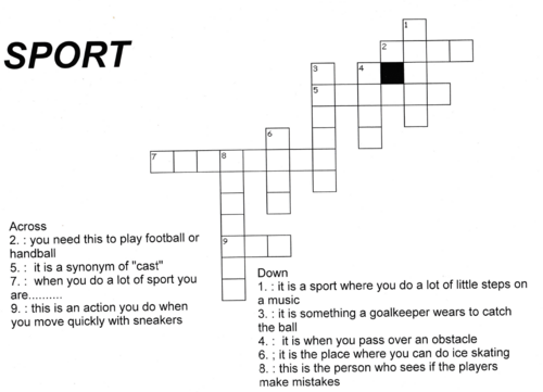 CROSSWORDS : SPORT