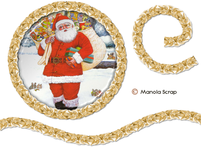 Médaillons du père Noël 3