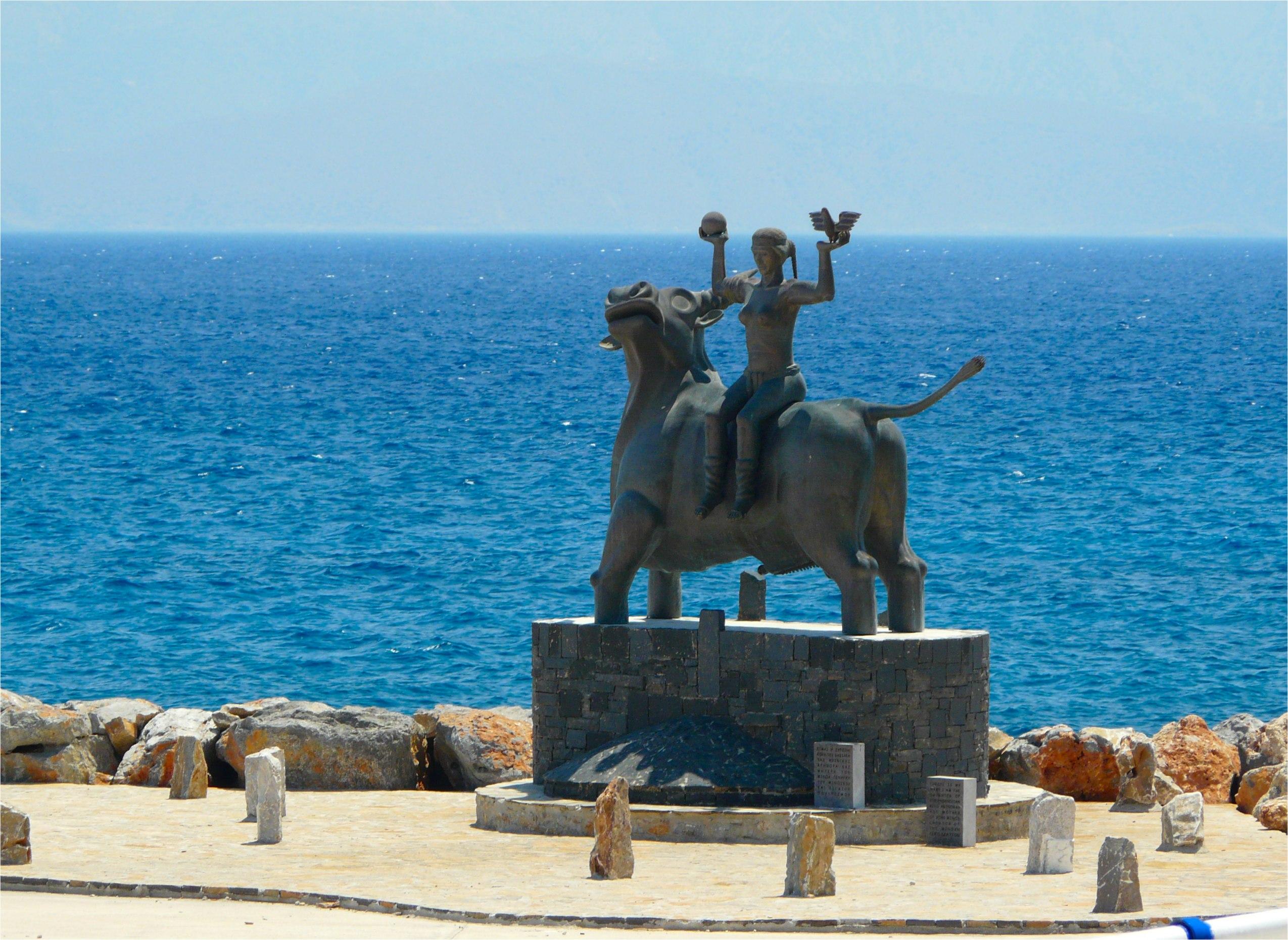 crète europe sur taureau
