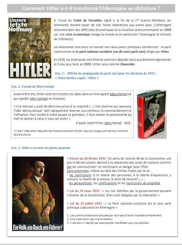 Le nazisme 3ème Histoire