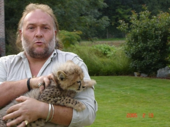 guépard animal dressé