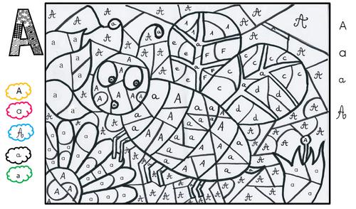 Coloriage Alphabet Ms.Un Abecedaire En Coloriage Magique Partie 1 La Maitresse