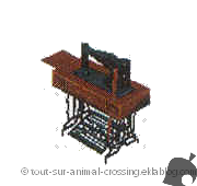 machine à coudre - animal crossing DS