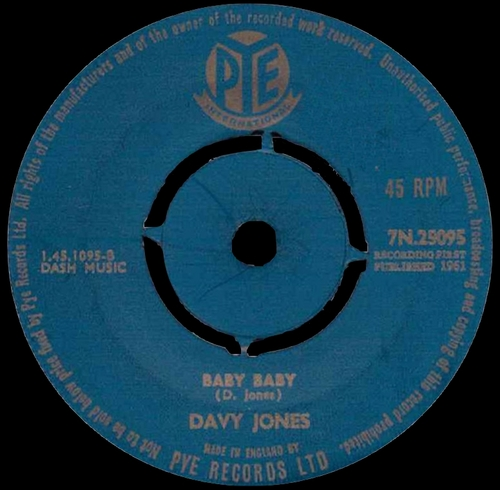 1961 : Single SP Pye Records 7N.25095 [ UK ]