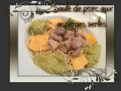 Sauté de porc aux asperges vertes