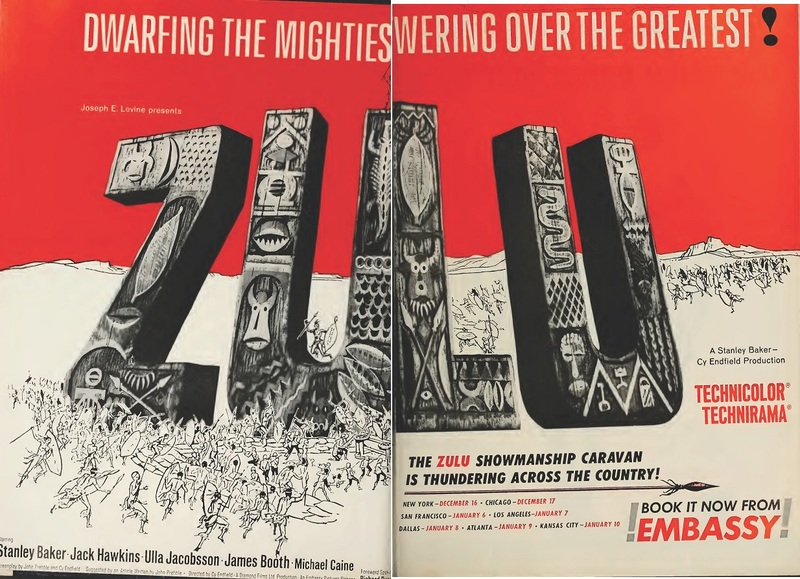 ZULU BOX OFFICE USA 1964
