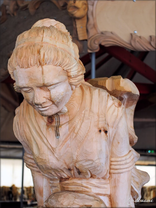 Photo de figure de proue (atelier de l'Hermione)