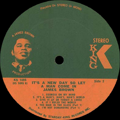 "James Brown : Album "" It's A New Day - So Let A Man Come In "" King Records 1095 [ US ]"