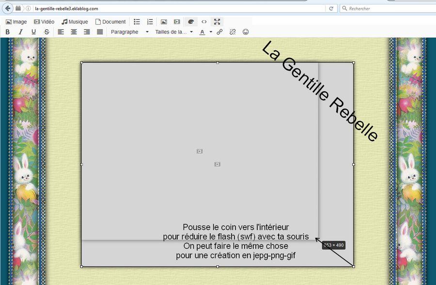 Réduire un Flash ou une créa dans un article ou module