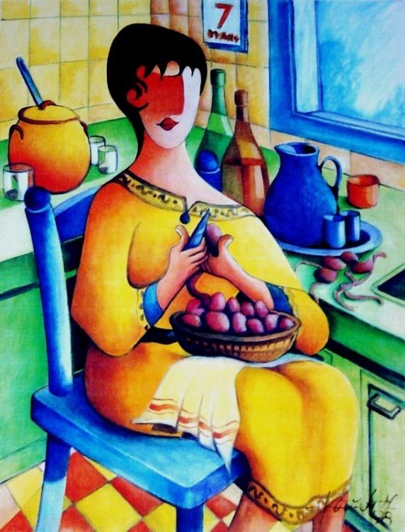 Jean Pierre Poveda : un artiste et des couleurs,  La cuinsinière