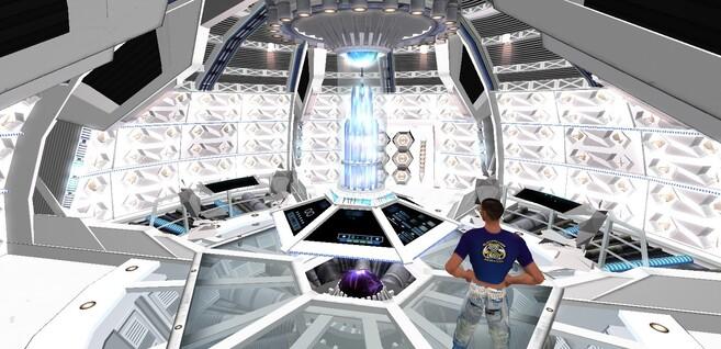 Intérieur de Tardis BLANC