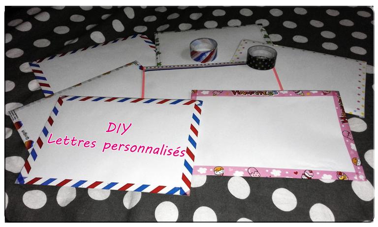 *Tuto originale: crée des lettres personnalisées