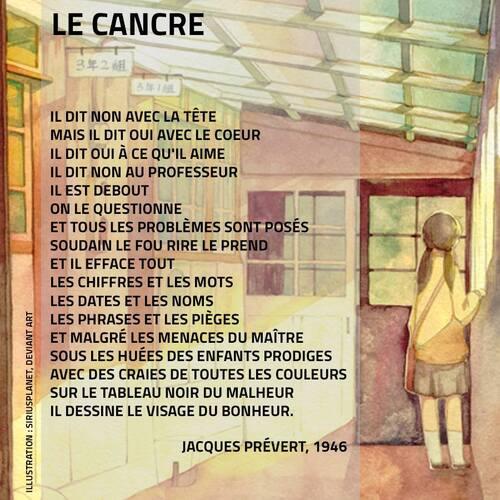 Le cancre de Prévert