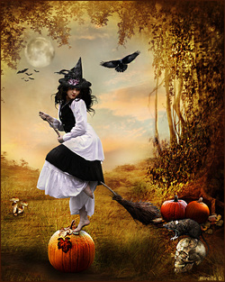 Cartes Halloween 2016 d'après Photomontages