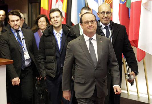 François Hollande à Bruxelles vendredi 19 février pour le sommet européen.