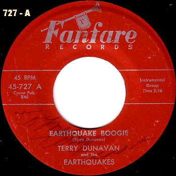 Terry Dunavan : Earthquake Boogie (1958)