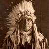 Chief White Spoon. Arapaho. ca. 1907-1912. Photo by Carl Moon. Source - Huntington Digital Library.p