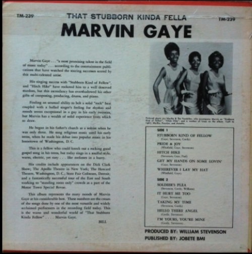 "Marvin Gaye : Album "" That Stubborn Kinda' Fellow "" Tamla Records TM 239 [ US ]"