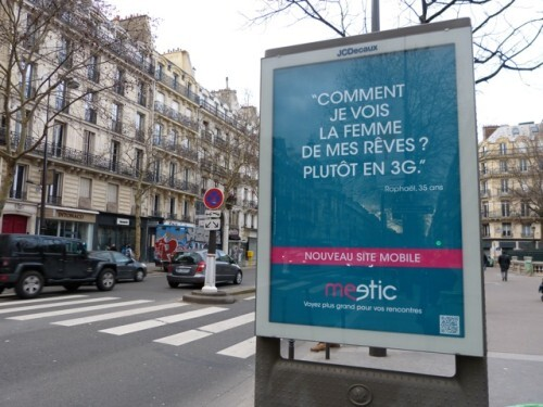 Affiche meetic mobile 3G