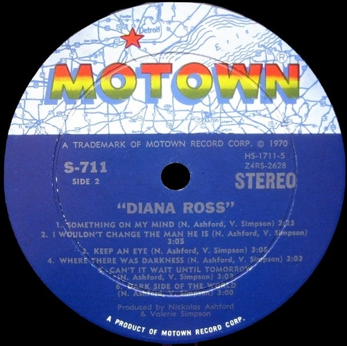 1970 : Album Diana Ross Motown ‎Records MS-711 [ US ]