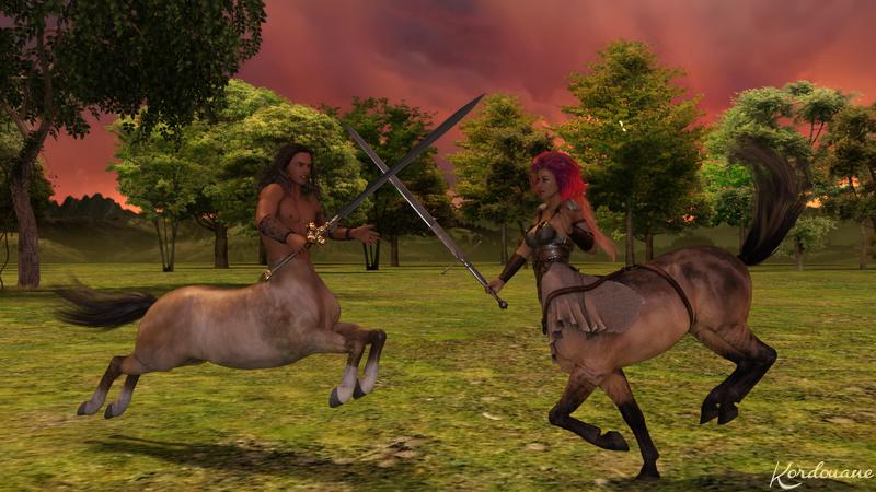 Fond d'écran : Combat de centaures