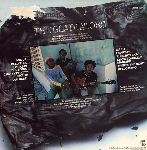 "The Gladiators : Album "" Trenchtown Mix Up "" Virgin Records V 2062 [ UK ]"