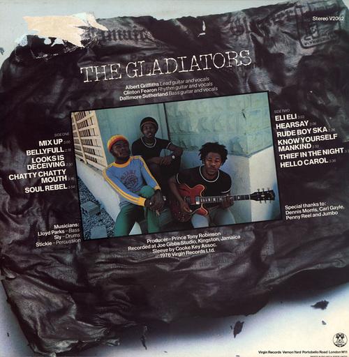 "The Gladiators : Album "" Trenchtown Mix Up "" Virgin Records V 2062 [ UK ]"